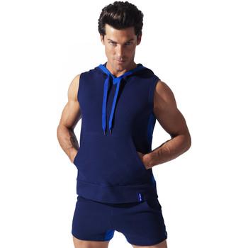 Vêtements Homme Débardeurs / T-shirts sans manche Code 22 Sweet Hoody sans manche Sport Bleu