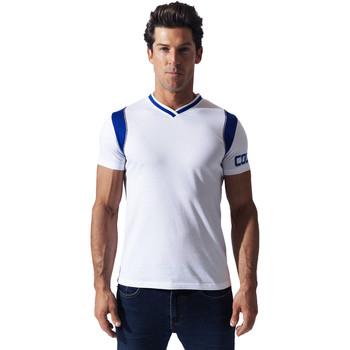 Vêtements Homme T-shirts manches courtes Code 22 Tee-Shirt Contrast Sport Blanc