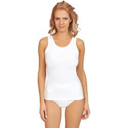 Vêtements Femme Pyjamas / Chemises de nuit Lisca Débardeur coton Aura Blanc