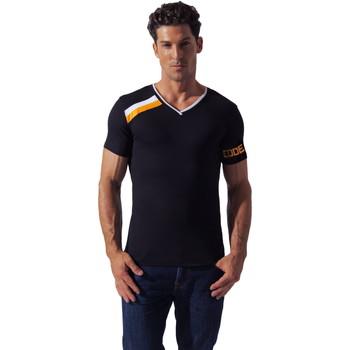 Vêtements Homme T-shirts manches courtes Code 22 Tee-Shirt Asymmetric Sport Code22 Noir
