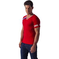 Vêtements Homme T-shirts manches courtes Code 22 Tee-Shirt Asymmetric Sport Code22 Rouge