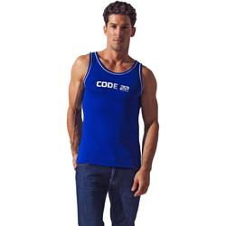 Vêtements Homme Débardeurs / T-shirts sans manche Code 22 Débardeur Basic Code22 Bleu