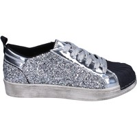 Chaussures Fille Baskets basses Holalà sneakers glitter argenté