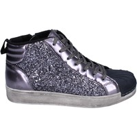 Chaussures Fille Baskets montantes Holalà sneakers glitter gris