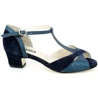 Chaussures Femme Sandales et Nu-pieds L'angolo 161.06_37 Bleu