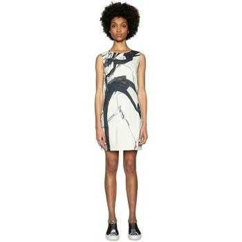 Vêtements Femme Robes courtes Desigual Robe Martin femme écru/noir 18SWVWAZ Multicolor