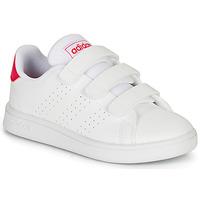 Chaussures Fille Baskets basses adidas Originals ADVANTAGE C Blanc