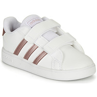 Chaussures Fille Baskets basses adidas Originals GRAND COURT I Blanc