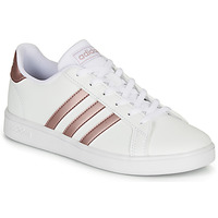 Chaussures Fille Baskets basses adidas Originals GRAND COURT K Blanc