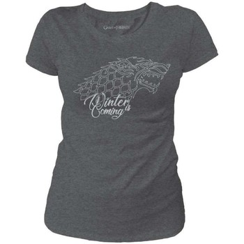 Vêtements Femme T-shirts manches courtes Game Of Thrones T-shirt Femme  - Winter is Coming Anthracite Chiné
