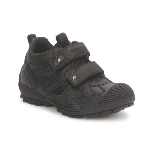 Chaussures Garçon Baskets basses Geox SAVAGE A Noir