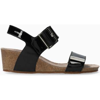 580ff36bbe5db4 Chaussures Femme Sandales et Nu-pieds Mephisto Sandale MORGANA ées Noir