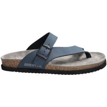 Chaussures Femme Sandales et Nu-pieds Mephisto NIELS cuir NIELS Bleu
