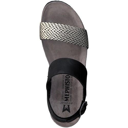 Mephisto Sandale Sandales pieds Tenessy Nu Femme Noir Et XZuOkTwPli