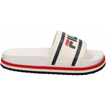 Chaussures Femme Sabots Fila FLATFORM SHOES 02p-white-stripe