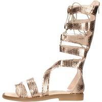 Chaussures Garçon Sandales et Nu-pieds Chiara Luciani - Sandalo laminato 170/18 PLATINO