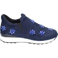Chaussures Fille Slip ons Holalà BR386 Bleu