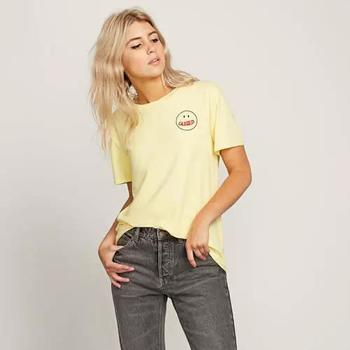 Vêtements Femme T-shirts manches courtes Volcom I'll Take Both Tee Faded Yellow