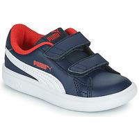 Chaussures Garçon Baskets basses Puma SMASH V2 L V Marine