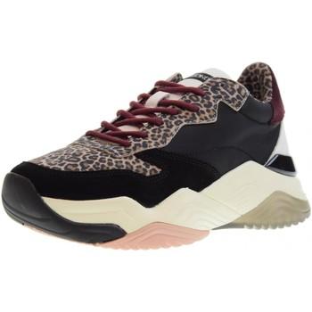 Chaussures Femme Baskets basses Crime London  Nero leopardato