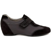 Chaussures Femme Ville basse Melluso SCARPA VELCRO ANTRACITE    121,6