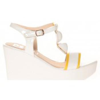Chaussures Femme Sandales et Nu-pieds Cassis Côte d'Azur Sandales Orso Blanc Blanc