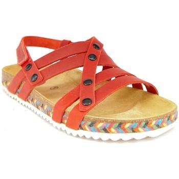 Chaussures Femme Sandales et Nu-pieds Interbios 7200-TRENZA ROJA Bios