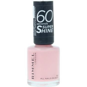Beauté Femme Vernis à ongles Rimmel London 60 Seconds Super Shine 722-all Nails On Deck  8 m
