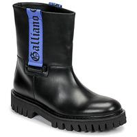 Chaussures Homme Boots John Galliano 8560 Noir / Bleu
