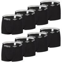 Sous-vêtements Homme Boxers Umbro Lot de 8 Boxers Coton  Noir Noir