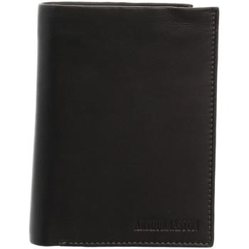 Sacs Homme Portefeuilles Arthur & Aston Portefeuille Arthur et Aston en cuir ref_46511 Noir 11*15*2 noir