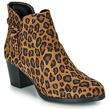 Chaussures Femme Bottines André MARYLOU LEOPARD