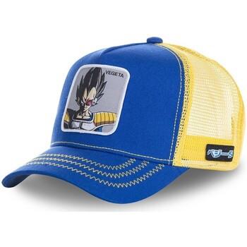 Accessoires textile Homme Casquettes Capslab Casquette  Dragon Ball Z Vegeta Bleu filet Jaune Bleu