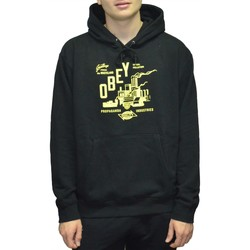 Vêtements Homme Sweats Obey WASTELAND BOX FIT FELPA CON CAPPUCCIO NERO Noir