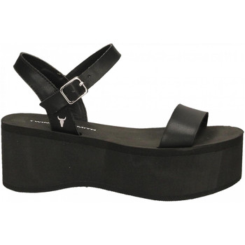 Chaussures Femme Sandales et Nu-pieds Windsor Smith CARLA SMOOTH ACTION black-nero
