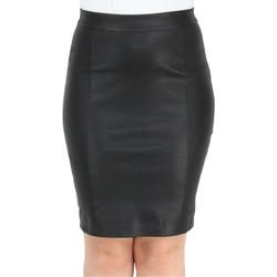 Vêtements Femme Jupes Pallas Cuir Jupe en cuir agneau ref_46501 Noir noir