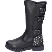 Chaussures Fille Bottes ville Didiblu bottes cuir noir
