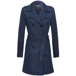 Vêtements Femme Trenchs De La Creme Bordeaux Navy