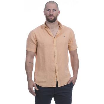Vêtements Homme Chemises manches courtes Ruckfield Chemise en lin orange Bleu
