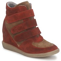 Chaussures Femme Baskets montantes Meline IMTEK BIS Marron / Rouge