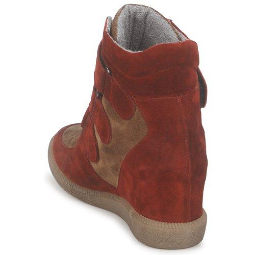 Imtek Femme Bis Meline Chaussures MarronRouge Baskets Montantes SzqMGLUVp