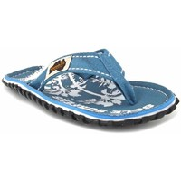Chaussures Homme Tongs Gumbies Islander Light Blue Palm Bleu