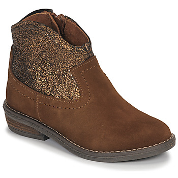 Chaussures Fille Boots André DOLLY Camel