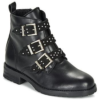 Chaussures Fille Boots André REGLISSA Noir