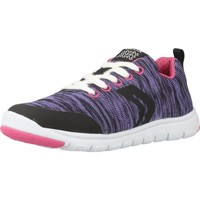 Chaussures Fille Baskets basses Geox J XUNDAY GIRL Violet
