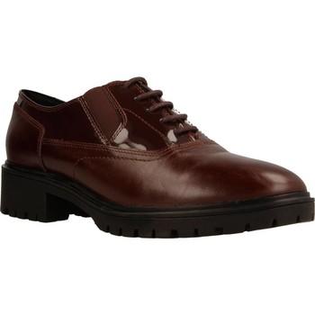 Chaussures Femme Derbies Geox D PEACEFUL Brun