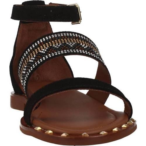 3747 12 Alpe sandales et nu-pieds femme noir