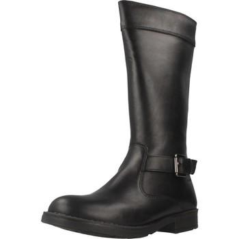 Chaussures Fille Bottes ville Geox JR SOFIA B ABX Noir