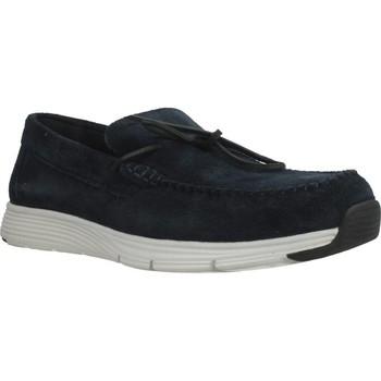 Chaussures Homme Mocassins Geox U SNAPISH Bleu