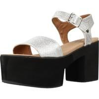 Chaussures Femme Sandales et Nu-pieds Different 64 8555 Argent